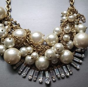 J.Crew Twisted Champagne Pearls Necklace